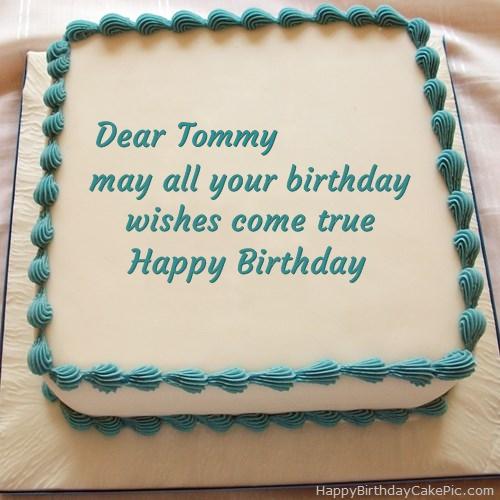 Happy Birthday Cake For Tommy