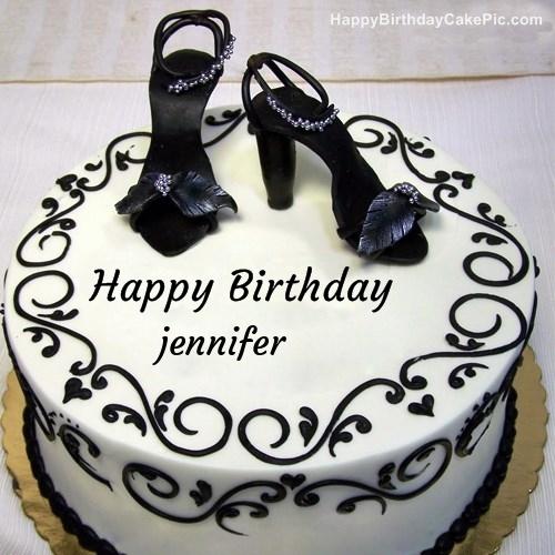 Fashion Happy Birthday Cake For Jennifer