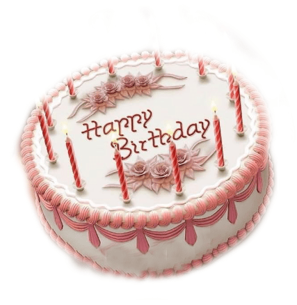 Happy Birthday cake images with candles