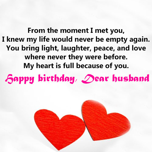 Happy Birthday wishes images for Husband with quotes