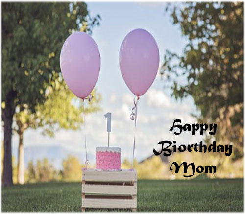 Happy birthday quotes for mom with a photo for whatsapp