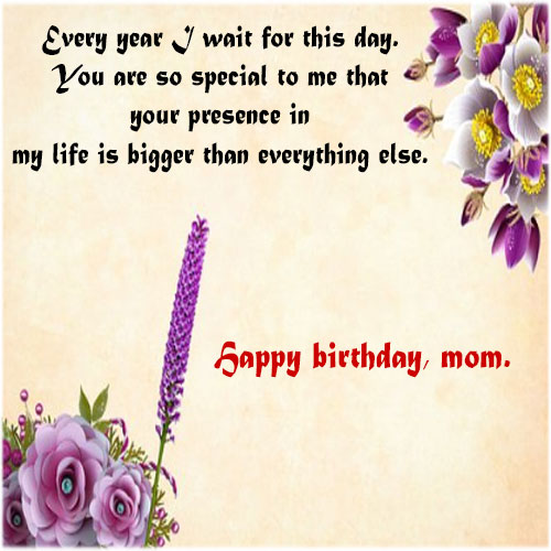 Happy birthday mom wishes with pics images for whatsapp