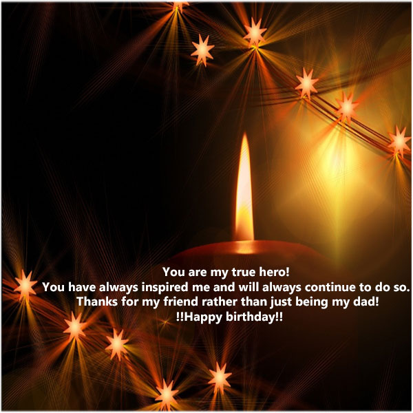 Happy birthday dad photo with quotes for facebook
