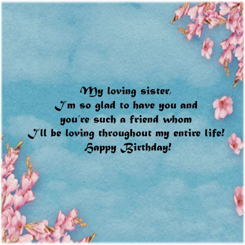 Happy Birthday Sister images with quotes download