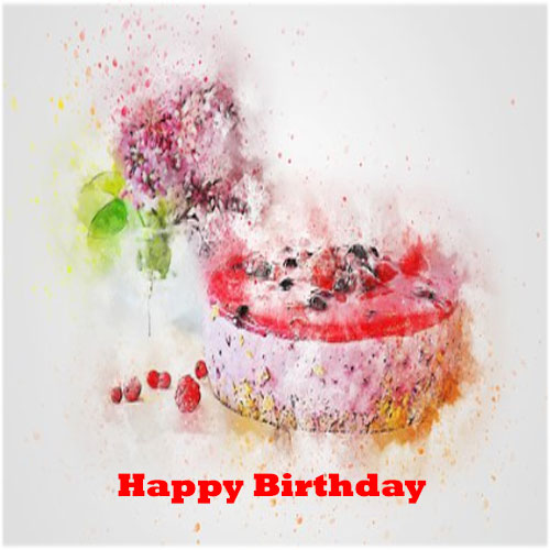 Happy birthday images for boyfriend with cake
