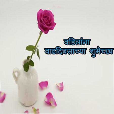 Birthday wishes for fatherin marathi