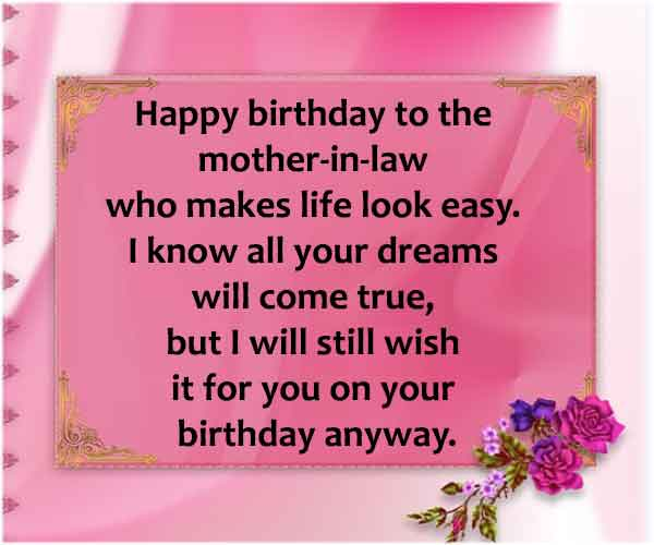 Birthday Wishes For Mom In Law