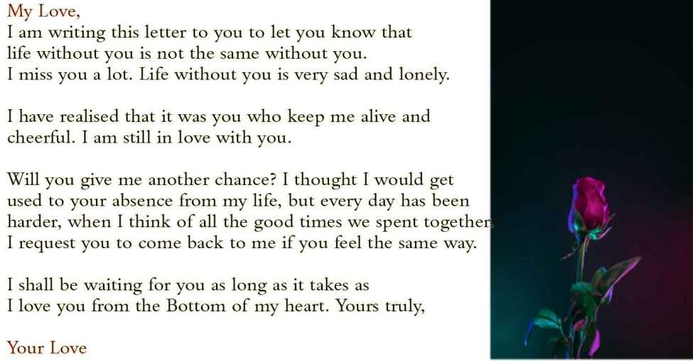RomanticLove Letters for Girlfriend