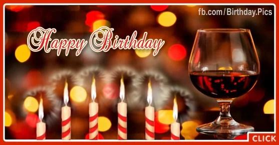 Red Wine Glass Happy Birthday Card Birthday Wishes