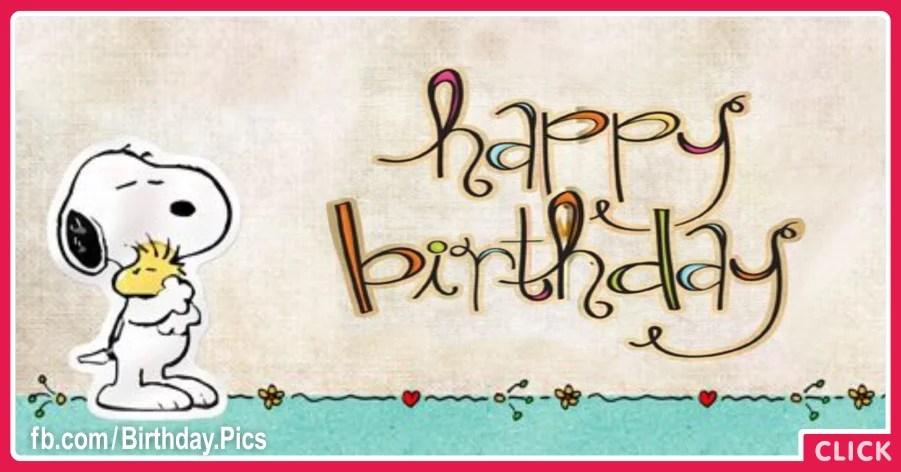 Snoopy Graffiti Happy Birthday Card For You Happy Birthday
