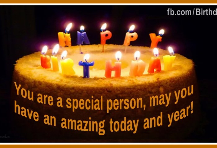 Special Person Cake Happy Birthday Card For You Happy Birthday