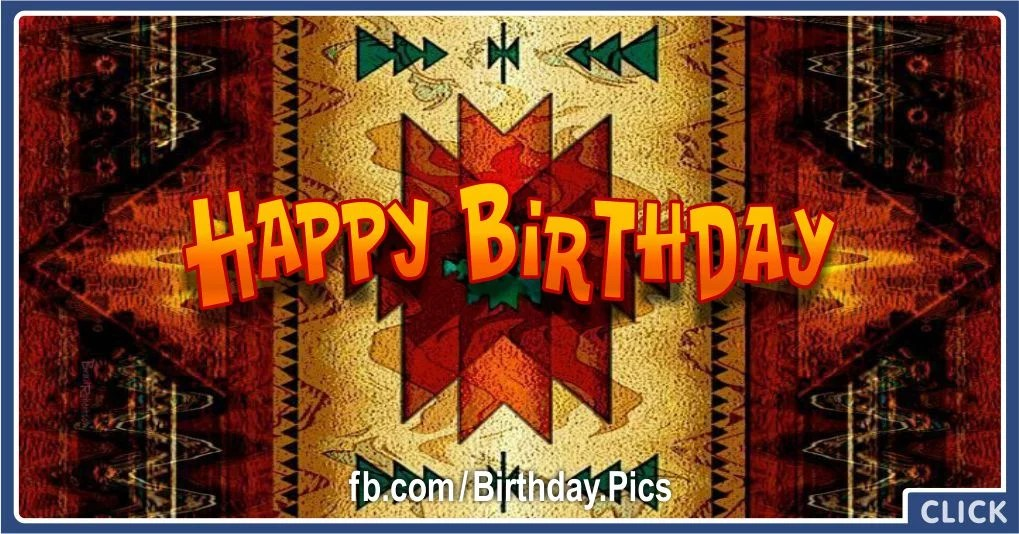 Birthday Card With Native American Rug Pattern Birthday Wishes