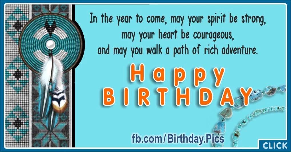 Native American Bead Knitting Birthday Card Birthday Wishes