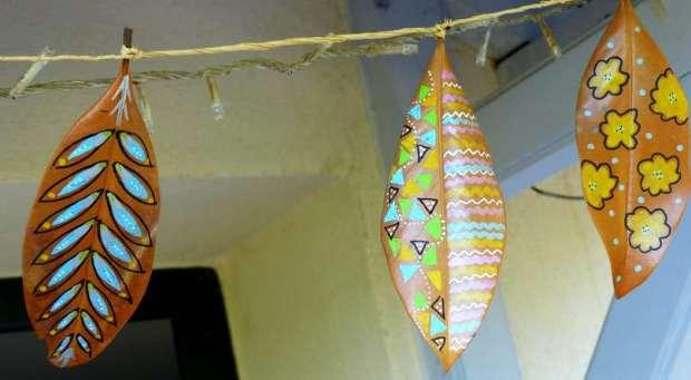 feuilles décorées 8