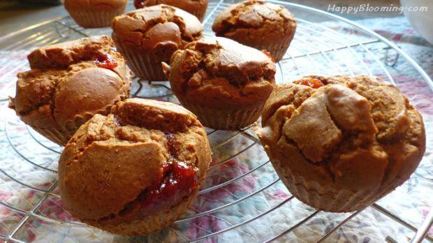 nonnette pain d'épices muffin confiture fourré, sans gluten