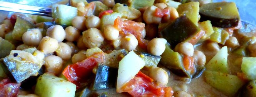 curry de pois chiche recette facile rapide vegan chickpeas salade recipe
