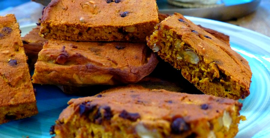 Les citrouilleux - Biscuits au potimarron et aux noix - sans gluten