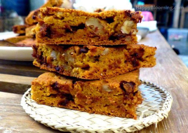 biscuits cookies au potimarron et aux noix sans gluten, gluten free, pumpkin cookies
