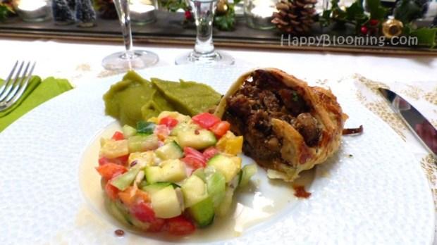Couronne aux chanterelles et faux foie gras, excellente tourte pour repas de fêtes