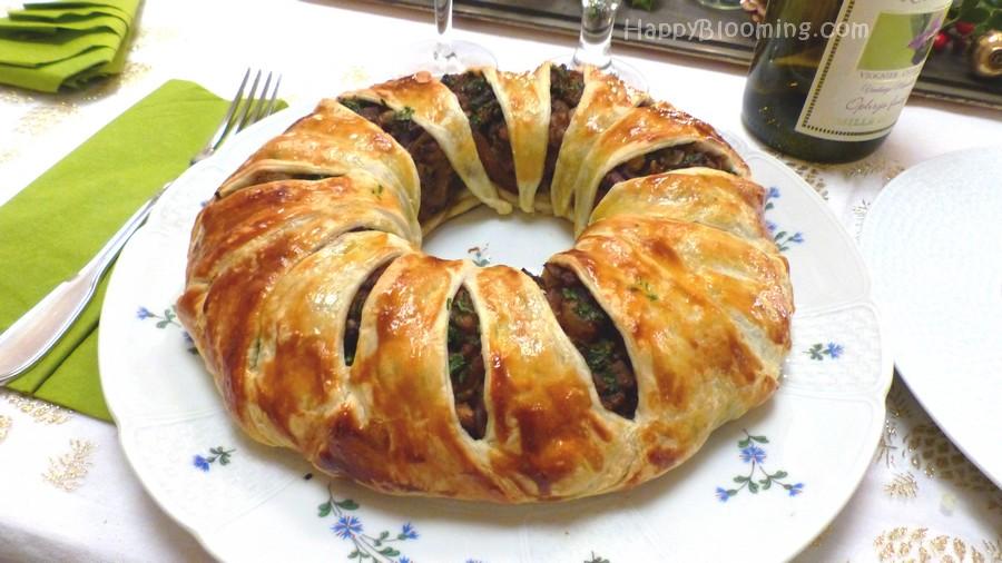 Couronne étoilée aux chanterelles et faux foie gras