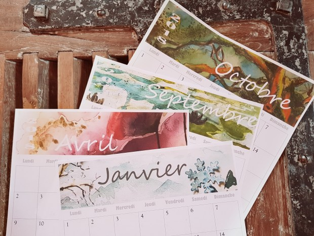 calendrier 2018 mensuel aquarelle pdf imprimable