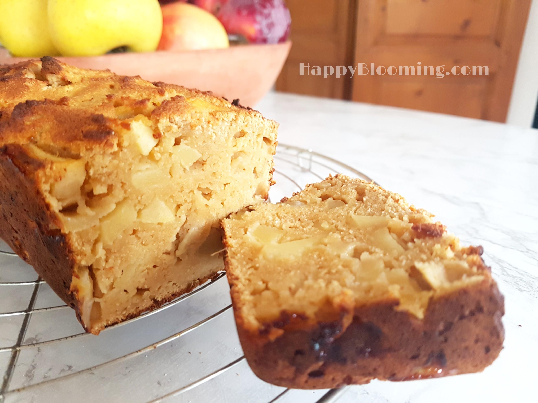 Cake à la farine de coco et aux pommes - protéiné sans gluten