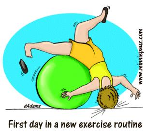 First Day Exercising