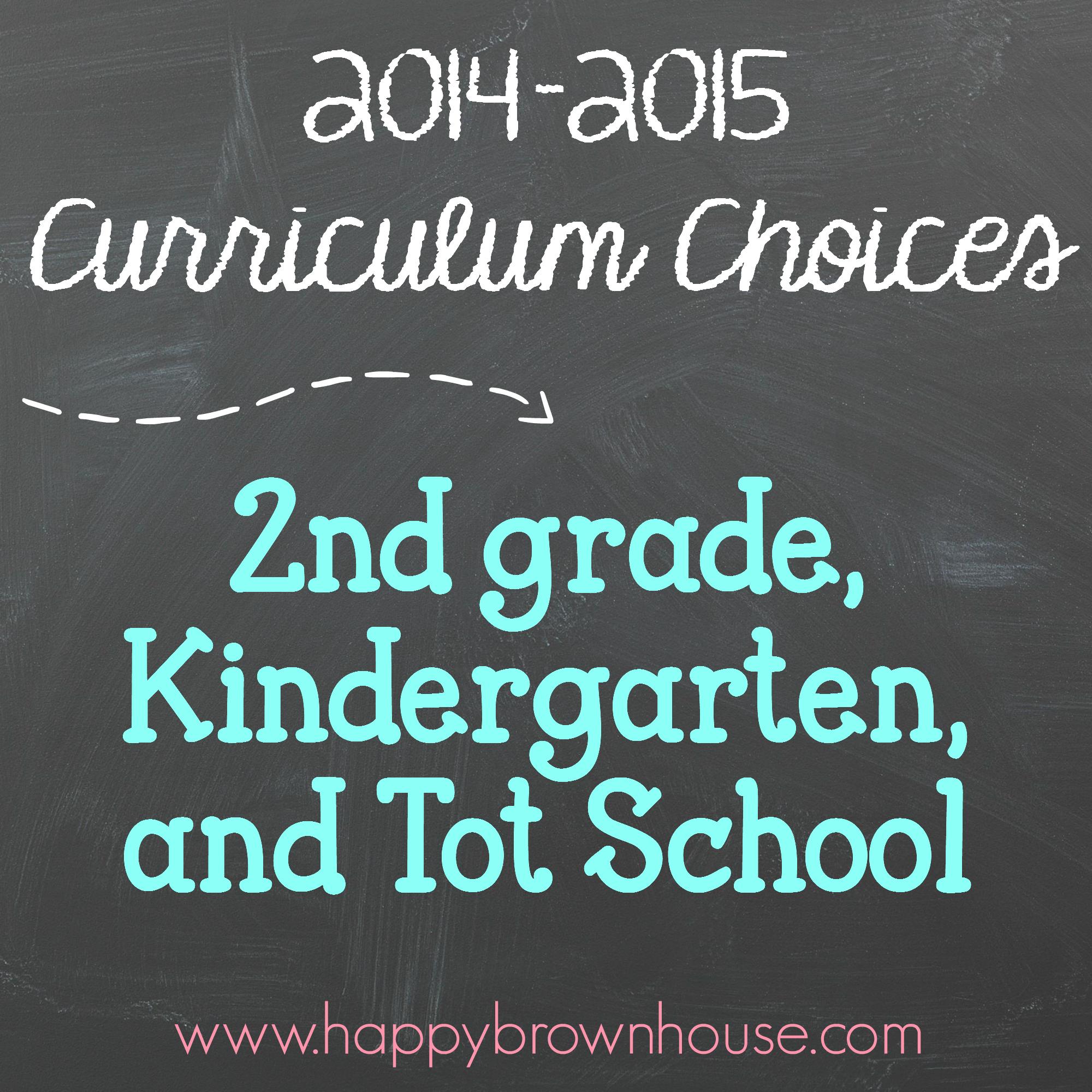 Curriculum Picks For 2nd Kindergarten And Tot School