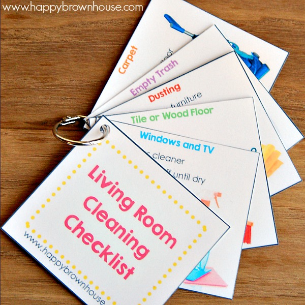 Editable Chore Cards For Kids Happy Brown House
