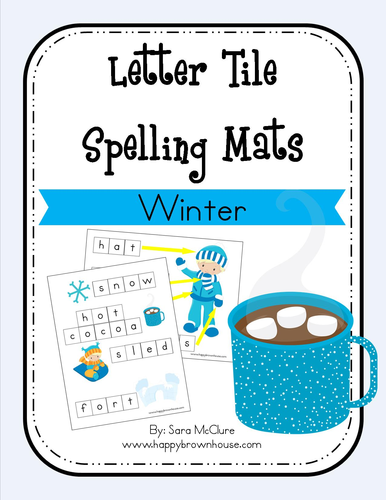 Winter Letter Tile Spelling Mat