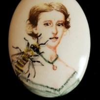 "Bee, ceramic, 1.25x1.75,"" 2015"