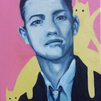 """Most Handsome 1964, oil on canvas, 9x12,"""" 2015"""