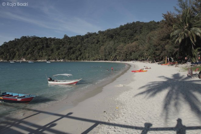 The beach of Perhentian Island Resort