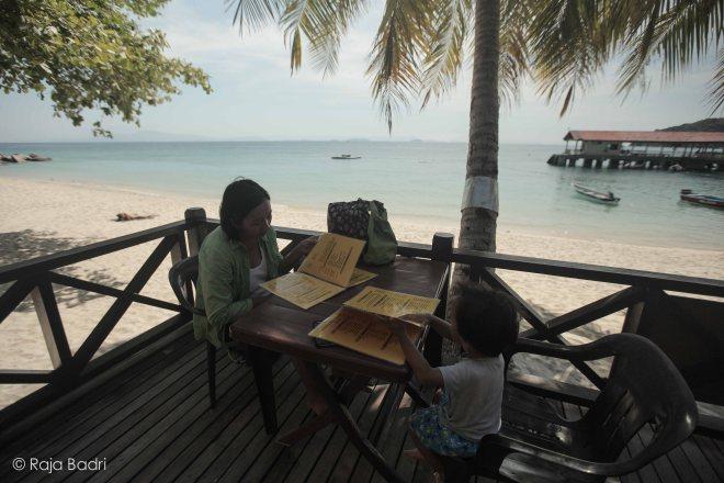 Having a break at Abdul Chalet restaurant