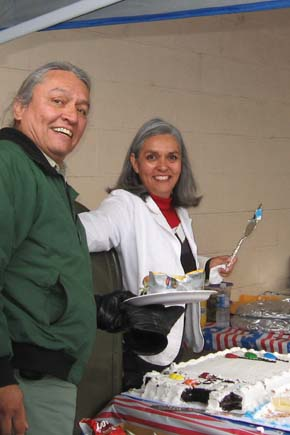 Skip Davis, Linda Kufner at Anniversary