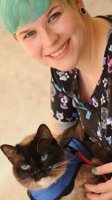 Tabitha Kucera and her kitty