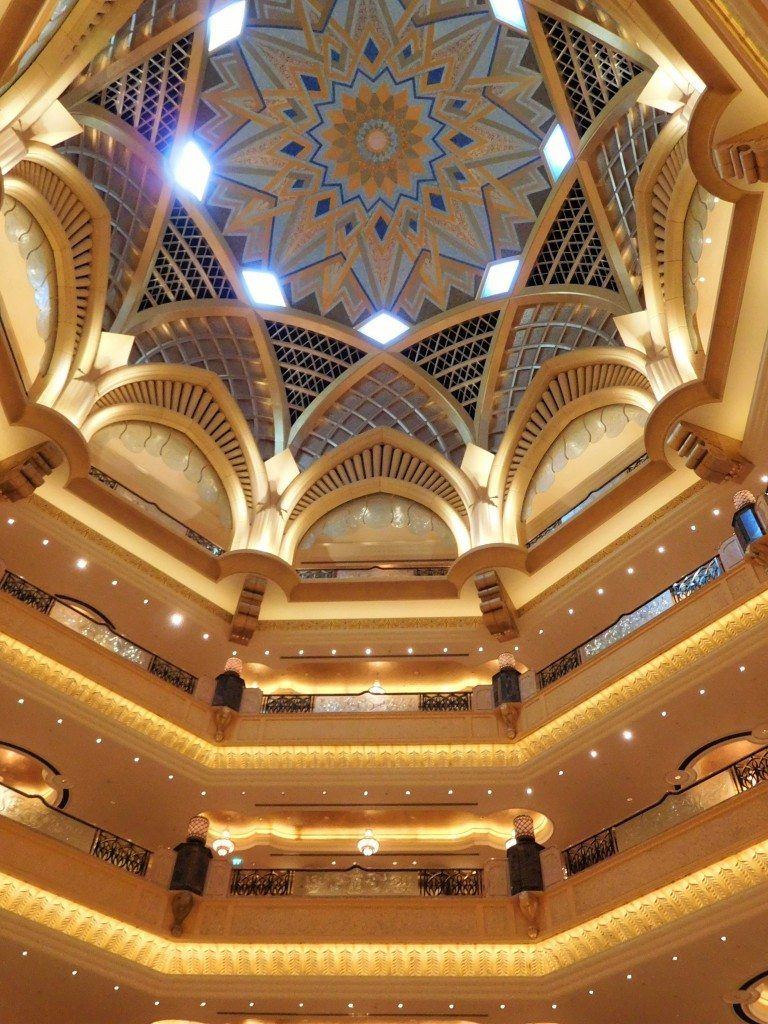The stunning balconies and dome over the lobby