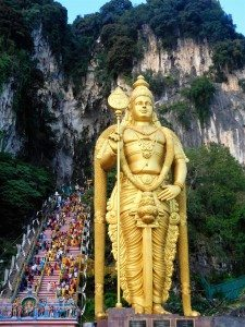 The entrance to the Batu Caves
