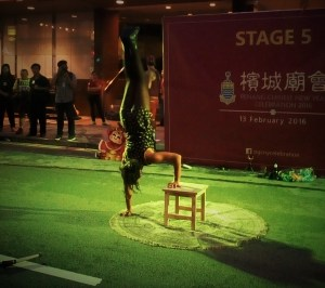 A street performer at the CNY celebration
