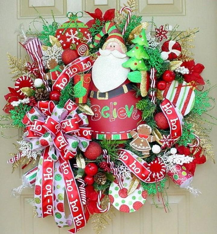 hard candy christmas wreath door - Hard Candy Christmas