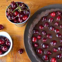 Tarta cu ciocolata si cirese