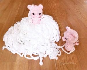 Deux cochons au crochet-vivyane veka