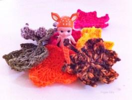 Sonny angel et feuilles d'automne au crochet-Vivyane Veka