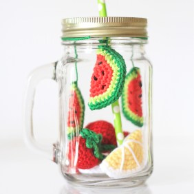 DIY Smoothie Pastèque au crochet