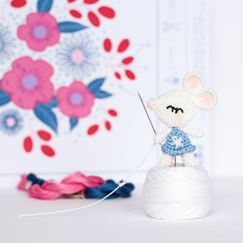 Amigurumi Souris au Crochet Miniature