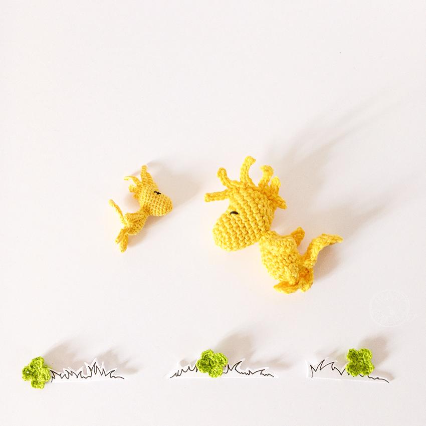 Amigurumi Woodstock Crochet Mini et Maxi