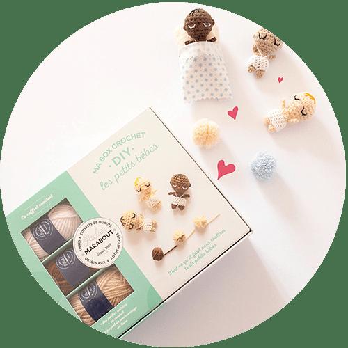 Ma Box Crochet DIY Les Petits Bebes chez Marabout