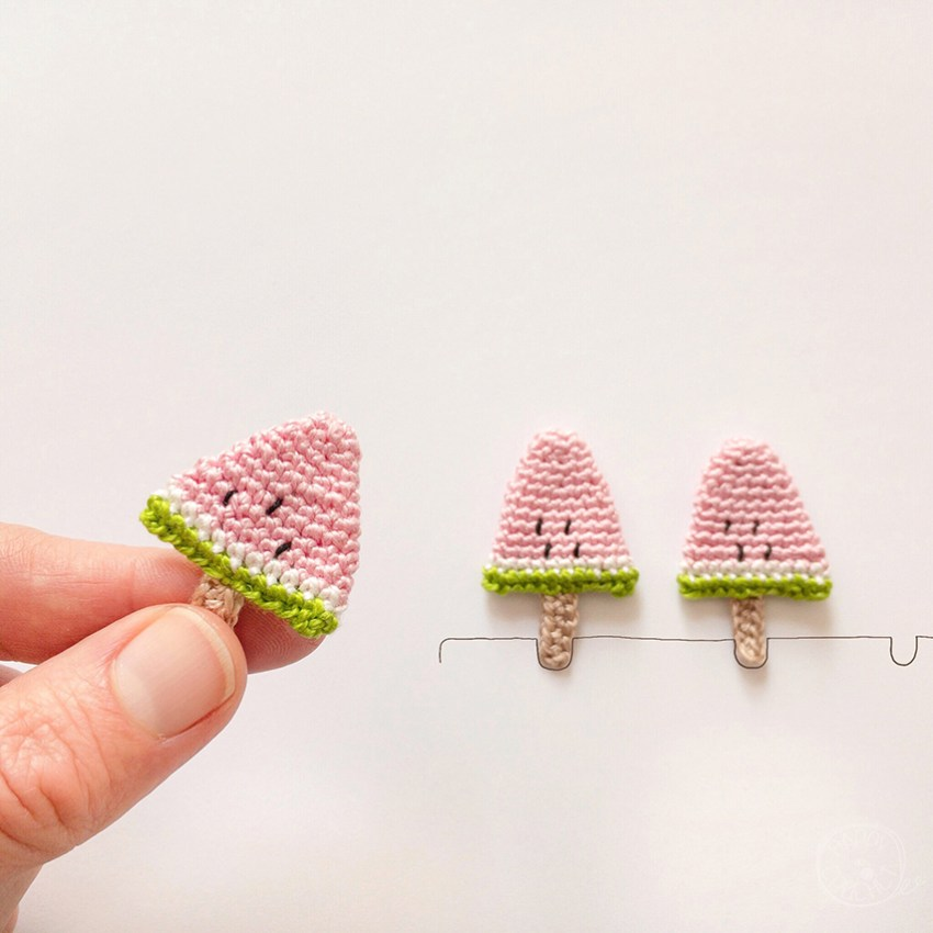 Tutoriel-Glace-Pasteque-Miniature-au-Crochet
