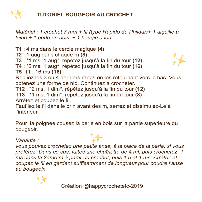 Tutoriel-Bougeoir-crochet par Happy Crochet Etc