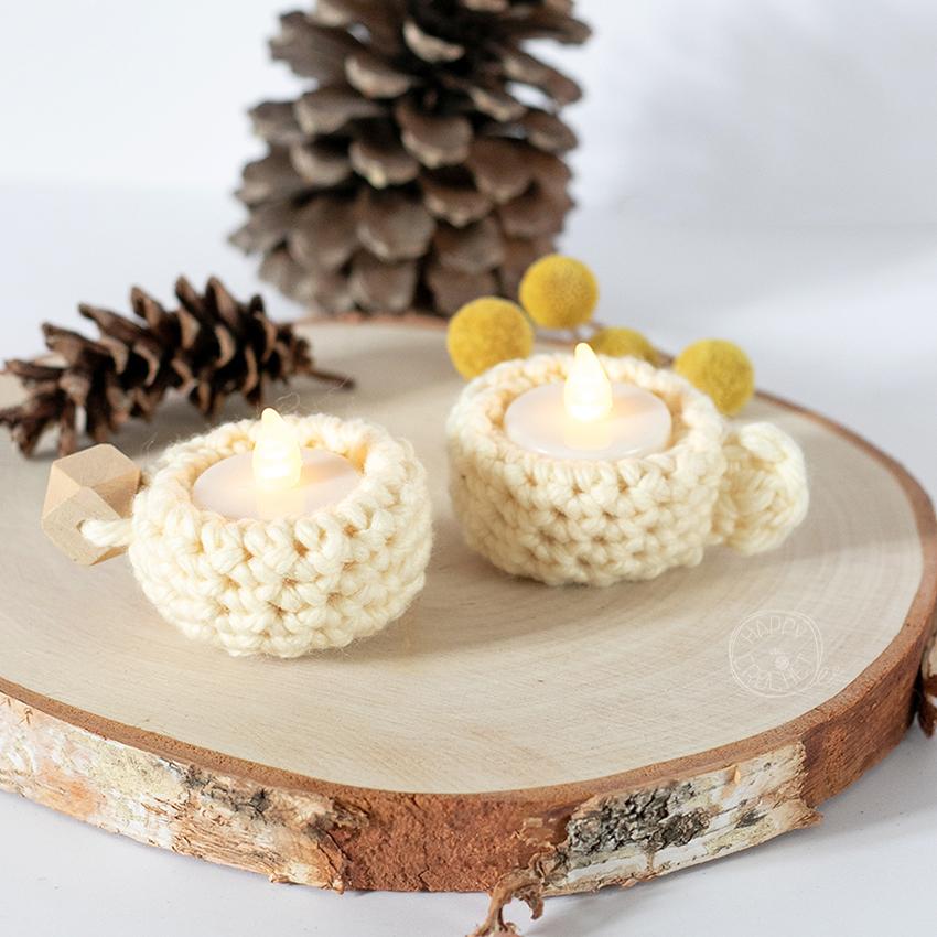 Bougeoir-crochet